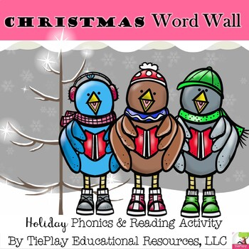 A Christmas Holiday Word Wall