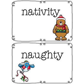 A Christmas Phonics Holiday Word Wall Reading Phonics Activity No Prep