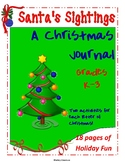A Christmas Journal - Writing Prompts