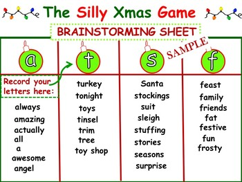 "Christmas Literacy ""Hands-On"" Team Game For All Ages"