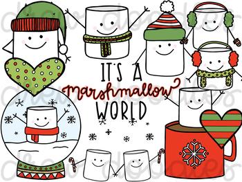 A Christmas Marshmallow World Digital Clip Art Set