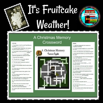A Christmas Memory by Truman Capote Crossword