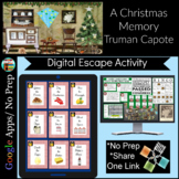 A Christmas Memory by Truman Capote Task Cards/ Digital Breakout