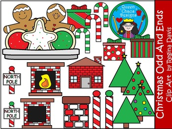 A+ Christmas Odds And Ends Clip Art...Color And Black And White Included
