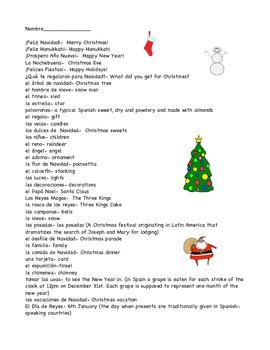 A Christmas Pack in Spanish-Feliz Navidad!