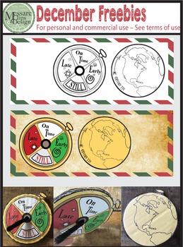 A Vintage Christmas & Polar Express December Freebie {Messare Clips and Design}