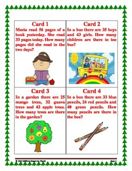 "A Christmas Scavenger Hunt  on ""ADDITION AND SUBTRACTION OF 2-DIGIT NUMBERS''"