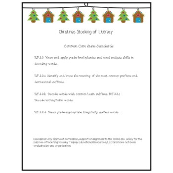 Christmas Stockings Reading Sight Words Phonics Literacy Worksheets No Prep