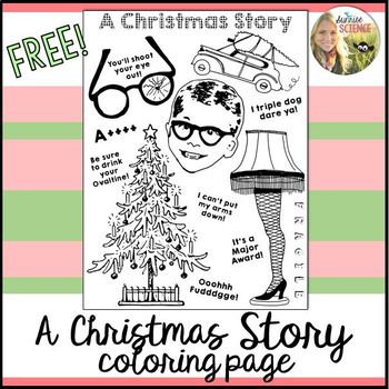 A Christmas Story Coloring Page FREE!