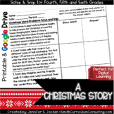A Christmas Story Math Activity | Decimals Activity | Solve and Snip® | Center