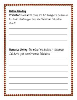 A Christmas Tale Reading Response/Novel Study (Geronimo Stilton)