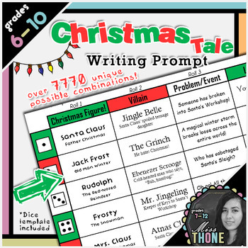 A Christmas Tale Roll-A Writing Prompt