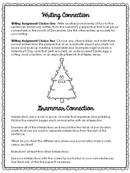 A Christmas Tree's Point of View - With Text Dependent Questions