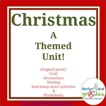 Christmas Activities, Poems, Projects,Worksheets, Activities, Writing, Crafts.