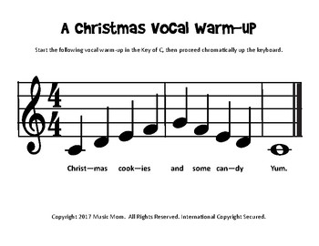 A Christmas Vocal Warmup