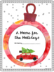 A Christmas descriptive writing project: A Home for the Holidays