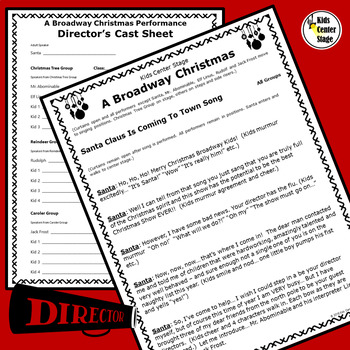 Christmas themed script for single class or large group musical performance