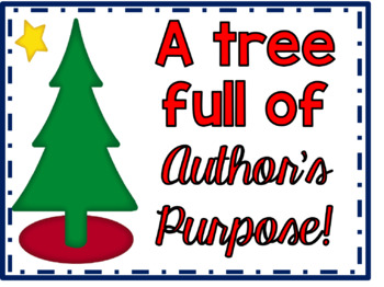 A Christmas tree full of Author's Purpose