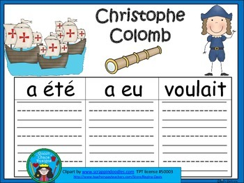 A+ Christophe Colomb: French Graphic Organizers