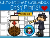 A+ Christopher Columbus: Easy Plans...Editable Papers for Columbus Day