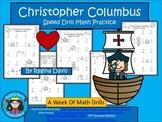 A+  Christopher Columbus: Speed Math Drills