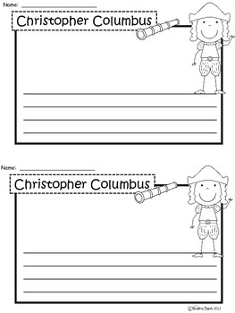A+ Christopher Columbus: Writing Paper