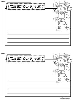A+ Scarecrow: Writing Paper
