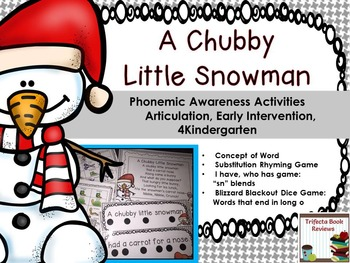 Kindergarten RTI:  A Chubby Little Snowman Rhyme and Activities