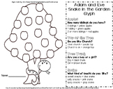 A Church Sunday School Adam and Eve Get to know you Glyph