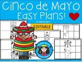 A+ Cinco de Mayo Easy Plans: Editable Papers