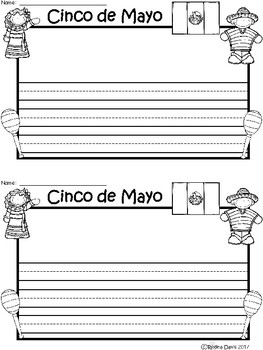 A+ Cinco de Mayo ... Writing Paper