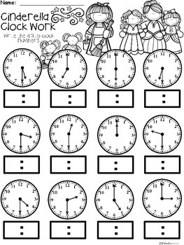 A+ Cinderella Analog Clock & Digital Clock Work (Hour & Half Hour)