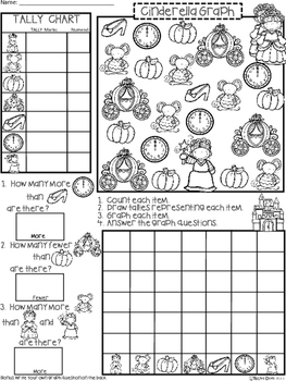 A+ Cinderella Fairy Tale: Count, Tally, Graph, and Compare