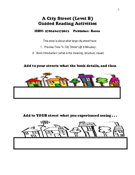 A City Street (Level B)  Guided Reading Activities