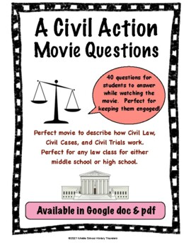 A Civil Action Movie Guide Questions By Middle School History Travelers