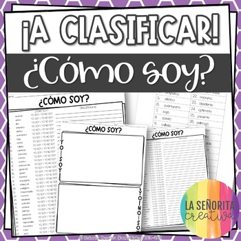 ¡A Clasificar! ¿Cómo soy? - a sorting activity for basic Spanish adjectives