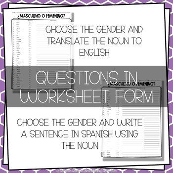 ¡A Clasificar! Gender of Irregular Nouns - a word sorting activity for Spanish