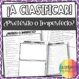 ¡A Clasificar! Pretérito vs. Imperfecto (in English) - Spanish sorting activity