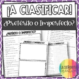 Preterite vs Imperfect Spanish Sorting Activity and Worksheets