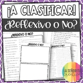 Reflexive Verbs Spanish Sorting Activity and Worksheets