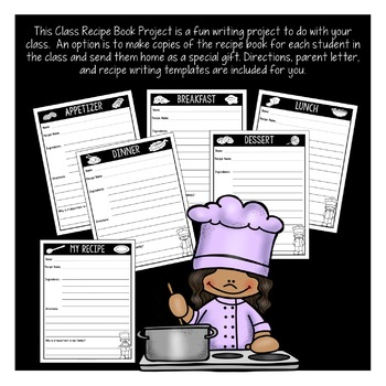 Make a Class Recipe Book: A FUN Valentine's, Thanksgiving, Mother's Day Project