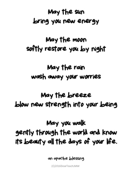 A Classroom Blessing Poster