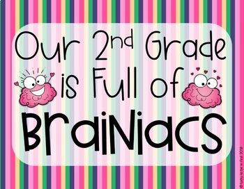 A Classroom Full of Brainiacs {Editable Back to School Display}