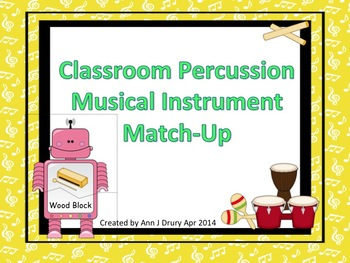 A Classroom Percussion Instrument Match-Up Game