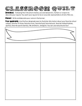 A Classroom Quilt Template For The Secondary Classroom (Free!)