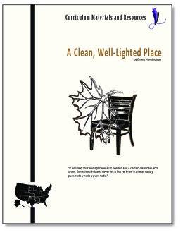 """""""A Clean,Well-Lighted Place"""" COMPLETE UNIT EDITABLE Activi"""