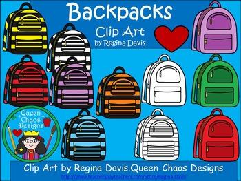 A+ Clip Art: Backpacks