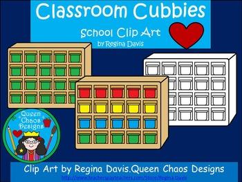 A+ Clip Art: Classroom Cubbies