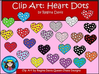 A+ Clip Art: Hearts With Dots