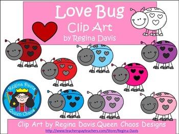 A+ Clip Art: Love Bugs